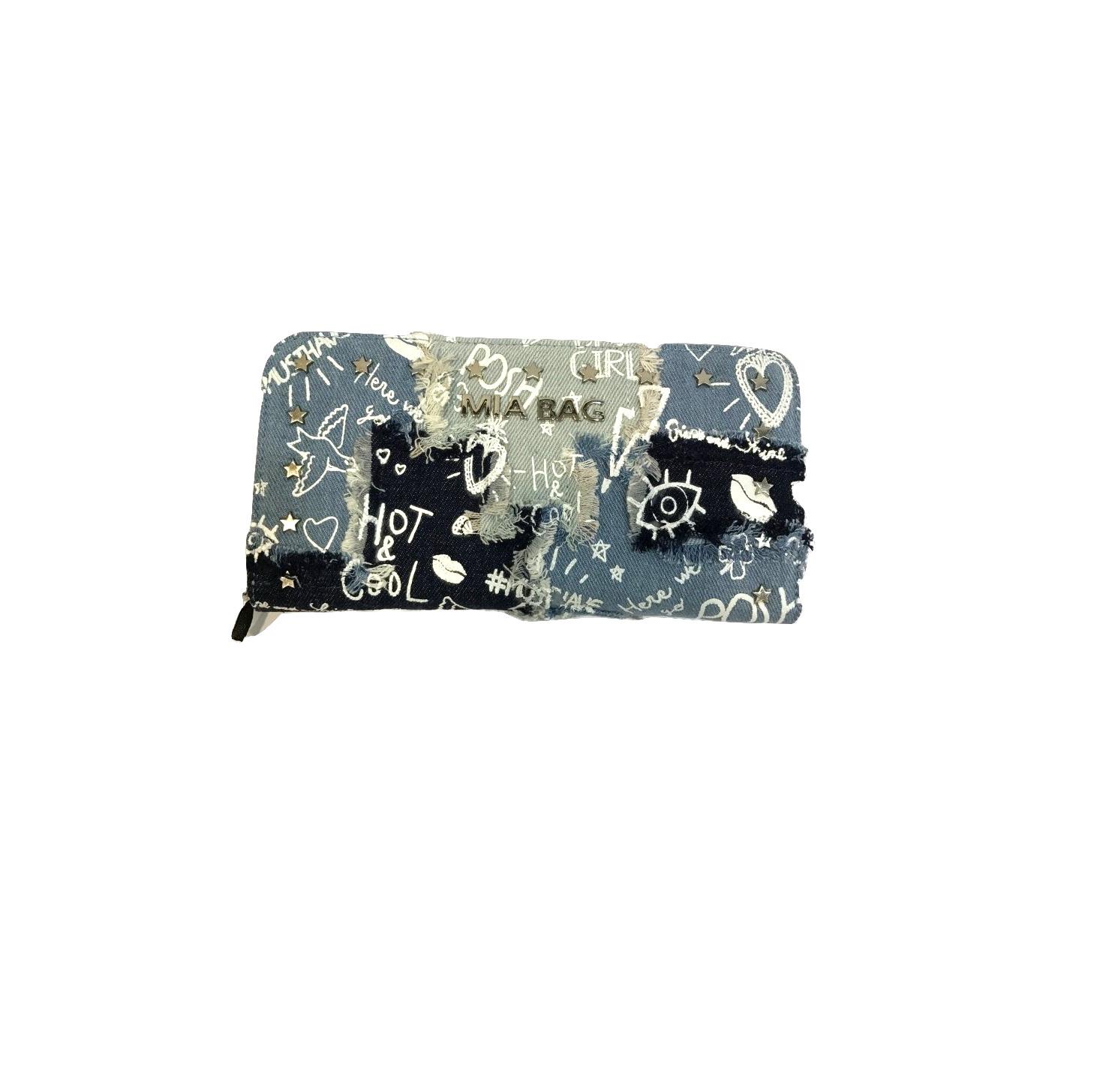 Borsa Donna Mia Bag Portafoglio Denim Patch Stampa Graffiti Bianco 2017 Bianco-  - ebay.it