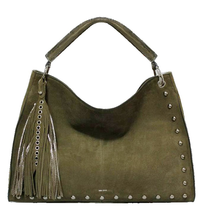 Borsa Donna Mia Bag Sacca Suede Borchie E Nappina Verde Militare 2017 Verde-  - ebay.it